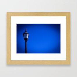 lamp over blue sky Framed Art Print