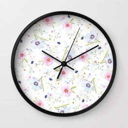 Floral Watercolor Wall Clock