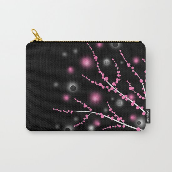 Black and pink abstract pattern . Carry-All Pouch