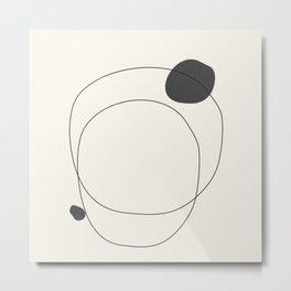Abstract line art 79 Metal Print