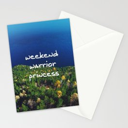 Weekend Warrior Princess Stationery Cards