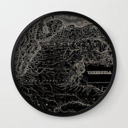 Venezuela Antique Map Wall Clock