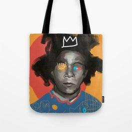 JM Basquiat, POP art portrait, digitally painted Tote Bag