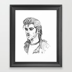 Greaser Zayn Framed Art Print
