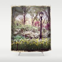 central park Shower Curtains featuring Central Park by Selena