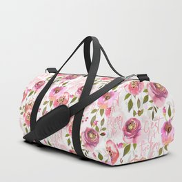 c'est la fucking vie - blush florals Duffle Bag