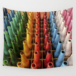 Rainbow Botellas Wall Tapestry