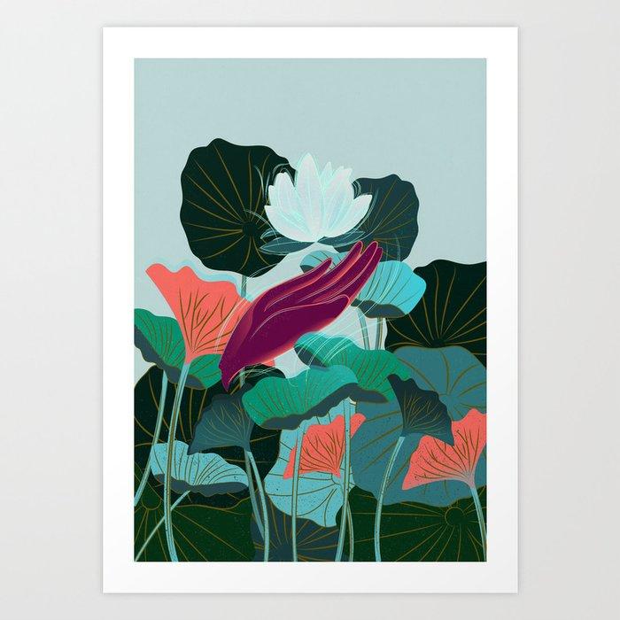 Lotus Magic: 05 Art Print