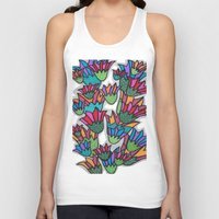 leah flores Tank Tops featuring Flores by Carolina Delleteze
