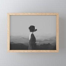 Girl with a gas mask Framed Mini Art Print
