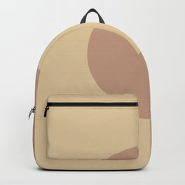Brown Beige Minimal Half Circle Design 2021 Color of the Year Canyon Dusk & Crepe Backpack