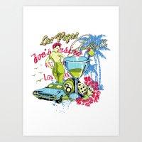 las vegas Art Prints featuring Las Vegas by Tshirt-Factory