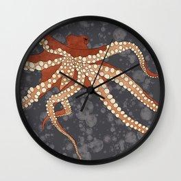 Rad Orange Octopus Wall Clock