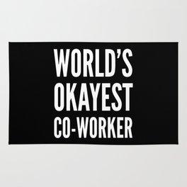 World's Okayest Co-worker (Black & White) Rug