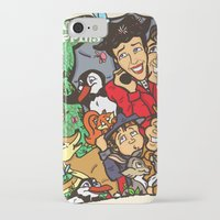 mary poppins iPhone & iPod Cases featuring Mary Poppins by Carol Wellart