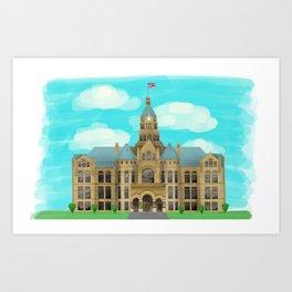 Courthouse - Warren Ohio 100 Art Print