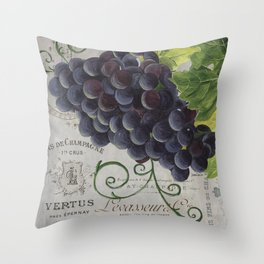 Chianti and Friends Grapes 2 Throw Pillow
