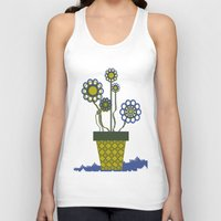 leah flores Tank Tops featuring Flores by Constant