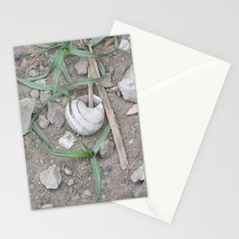 shell in the garden Stationery Cards