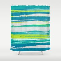 into the wild Shower Curtains featuring Wild by Pattern Pillows