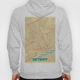 Detroit Map Retro Hoody