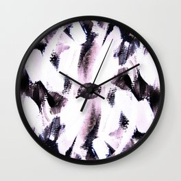 soft colored brush strokes Wall Clock