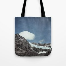 mountains and ice Tote Bag