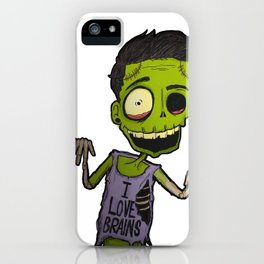 He loves brains iPhone Case