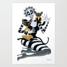 Fräulein and the Felines Art Print