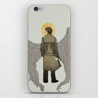 castiel iPhone & iPod Skins featuring Castiel by cyrrs