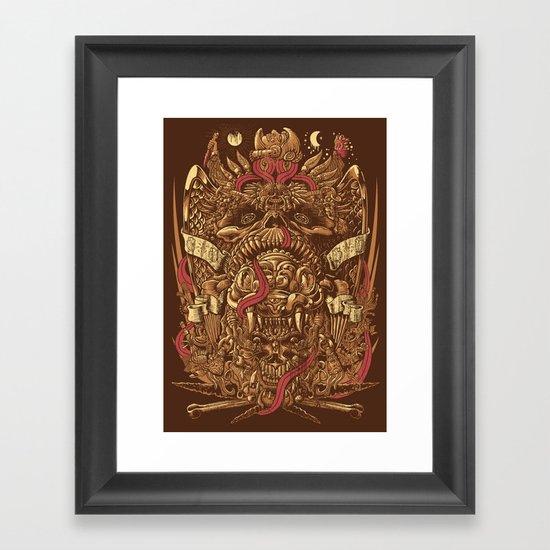 Sed de Sangre Framed Art Print