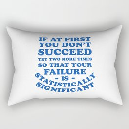 Statistics Joke - Statistically Significant Funny Rectangular Pillow