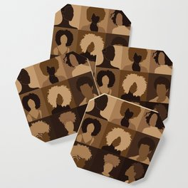 FOR BROWN GIRLS COLLECTION COLLAGE Coaster