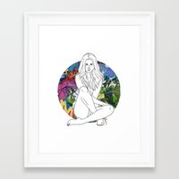 selena gomez Framed Art Prints featuring Selena by vllancourt