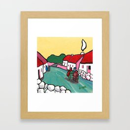 The West of Ireland - Off to the market Framed Art Print