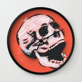 Gunga Skull 06 Wall Clock
