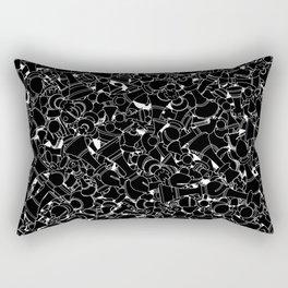 Chess Pattern BLACK Rectangular Pillow