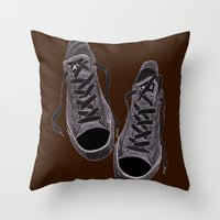 converse Throw Pillows featuring Converse by maeveelectro