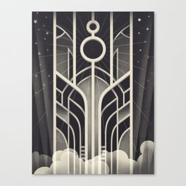DECO STARGATE Canvas Print