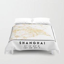 SHANGHAI CHINA CITY STREET MAP ART Duvet Cover