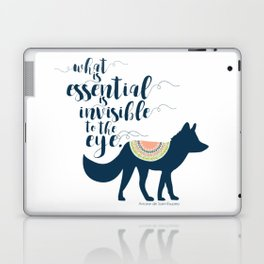 What is essential is invisible to the eye. The Fox. Laptop & iPad Skin