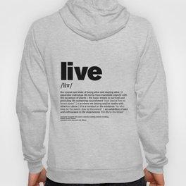 Def. LIVE b/w Hoody
