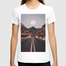 Road Red Moon T-shirt