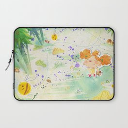Mushroom hunt_panorama Laptop Sleeve