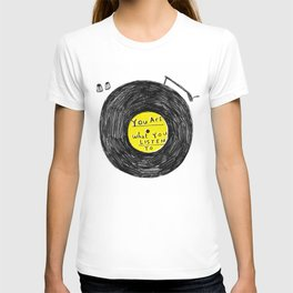 you are what you listen to, YELLOW T-shirt