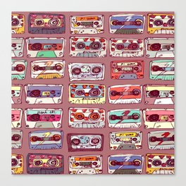mixed tapes collage Canvas Print