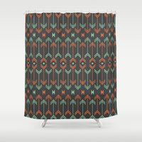 arrow Shower Curtains featuring Arrow by Priscila Peress