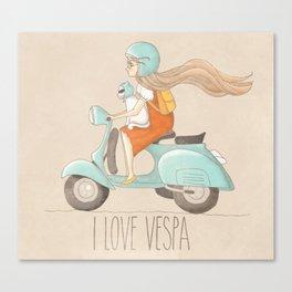 I love Vespa Canvas Print