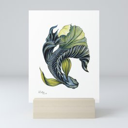 Betta - Siamese Fighting Fish flowing and colourful Mini Art Print