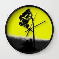 lonely Wall Clocks featuring lonely  by Nikos